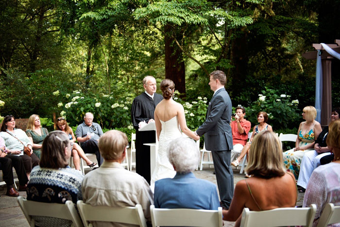 botanical gardens wedding ceremony