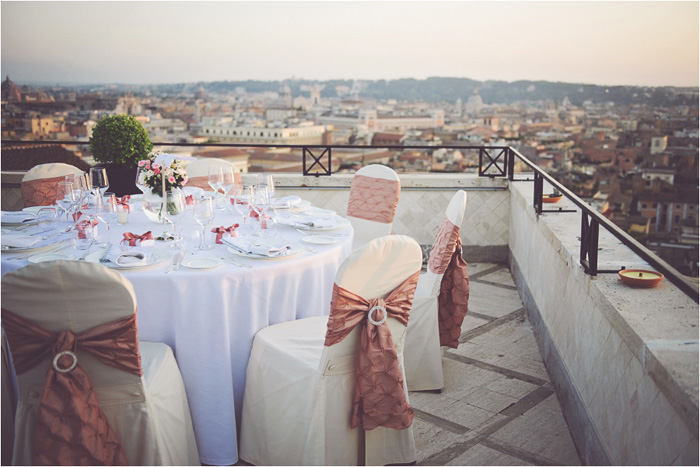 rome rooftop wedding
