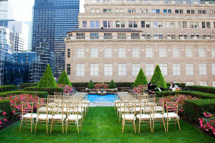 rooftop garden wedding