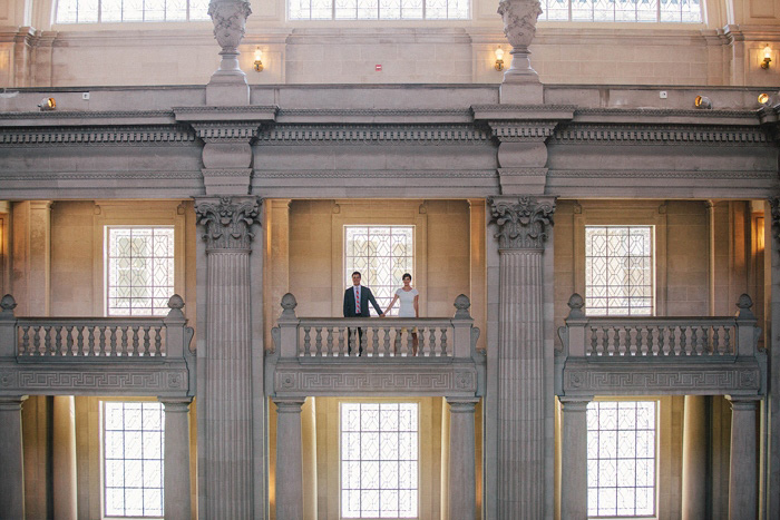 San Francisco City Hall couple portrait