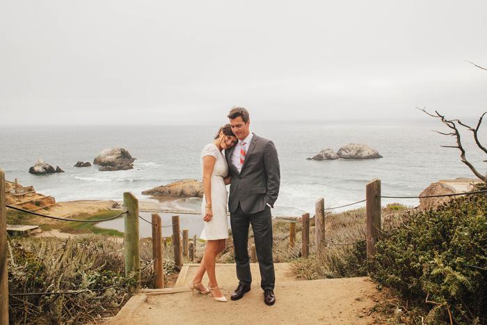 couple portrait by the ocean