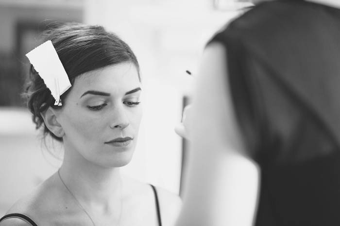 bride getting her make-up done