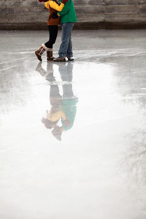 skating rink reflection