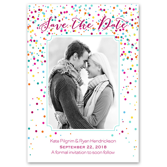 confetti photo save the date