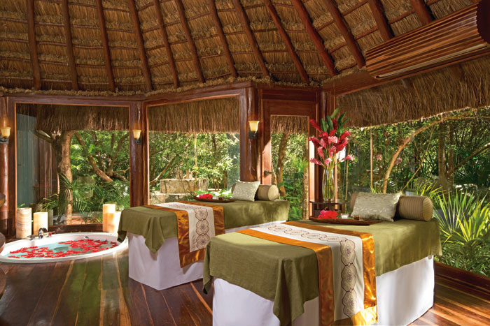 rainforest spa cabin
