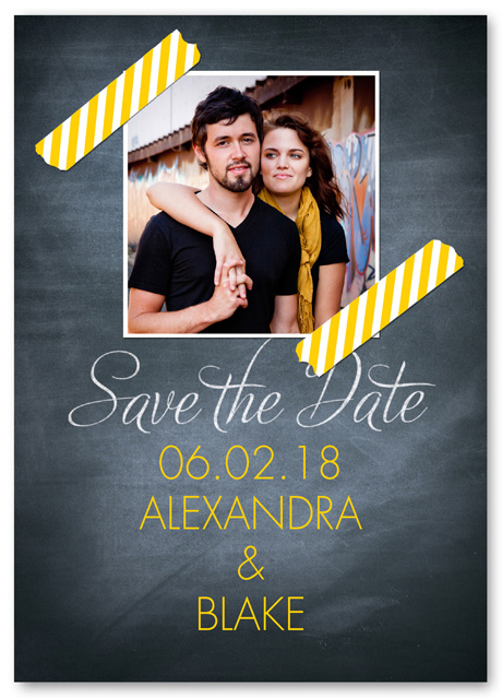 chalkboard photo save the date