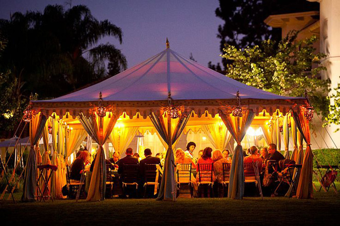 moroccan themed tent & 10 Chic Wedding Tent Styles