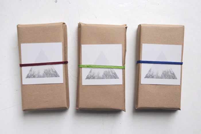brown-paper wrapped chocolate bars