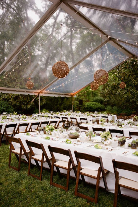 clearspan tent & 10 Chic Wedding Tent Styles