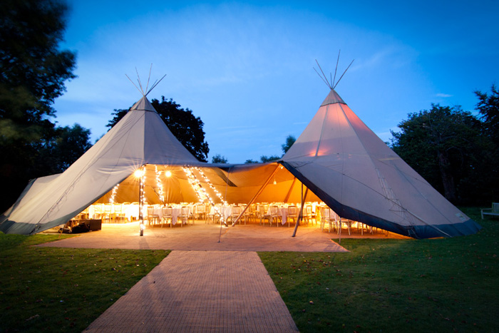double tipi wedding tent