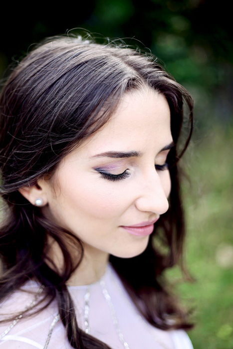 purple bridal eye make-up