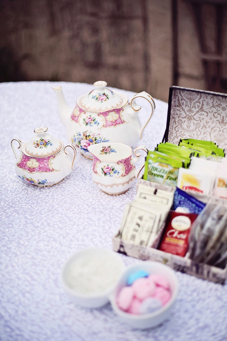 wedding tea station