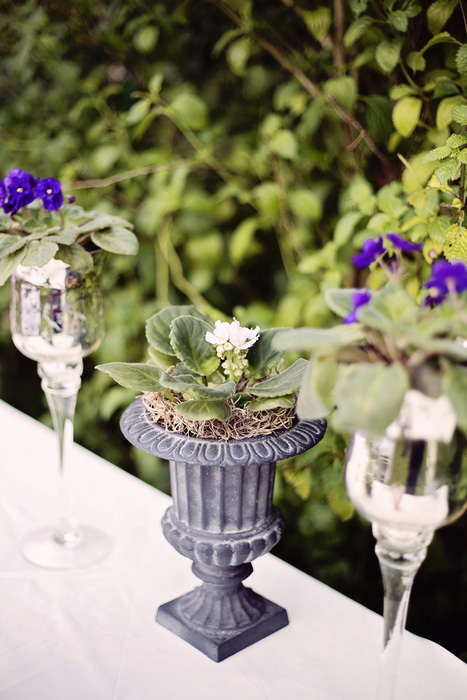 mini plant urn centerpiece