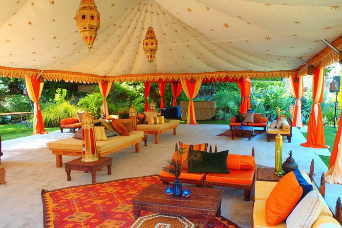 moroccan wedding tent