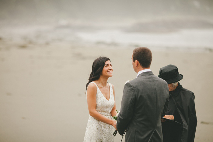 beach elopement ceremony