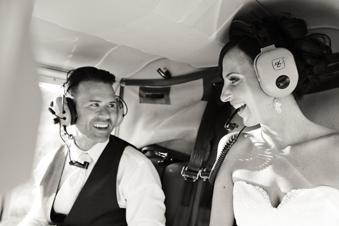 wedding helicopter ride