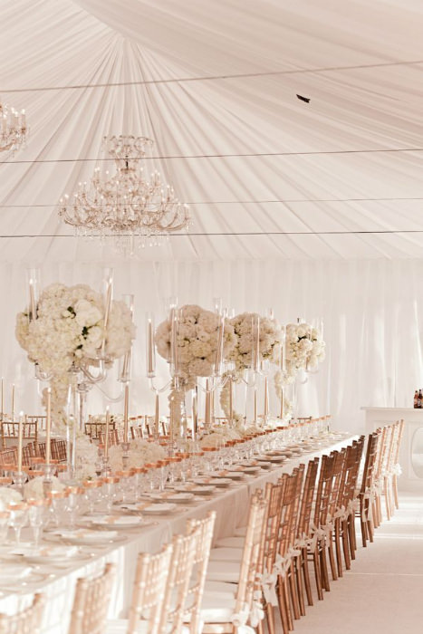 Rose gold wedding ideas for Decoration rose gold
