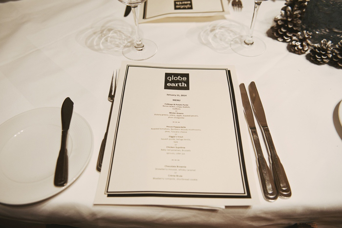 Globe Bistro wedding menu