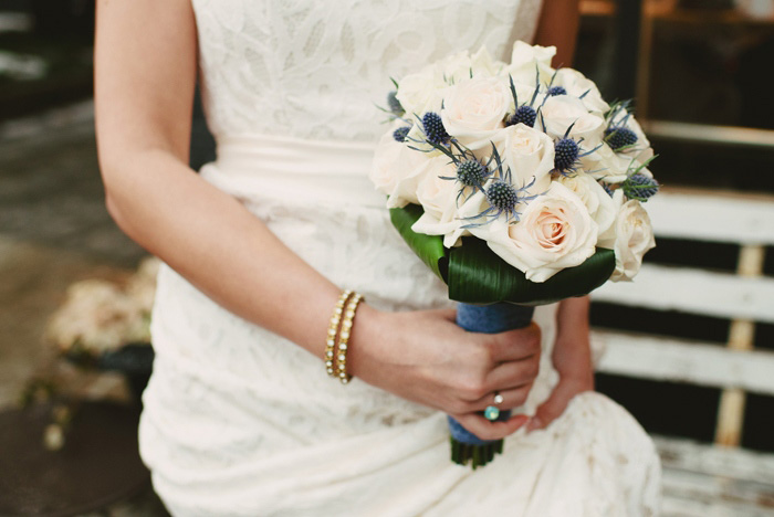 rose and thistle bouquet