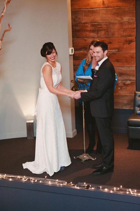 wedding ceremony at Globe Bistro