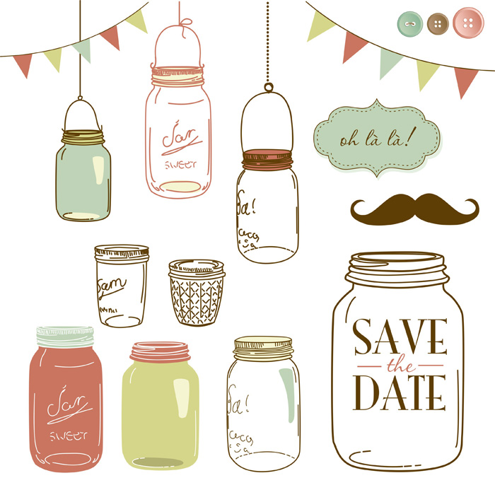Graphicstock mason jars