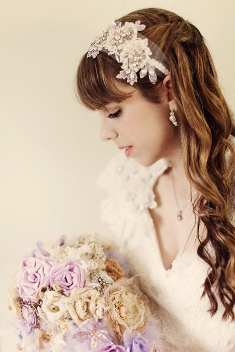 profile bridal portrait