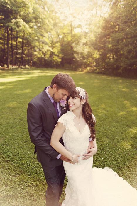 park wedding portrait