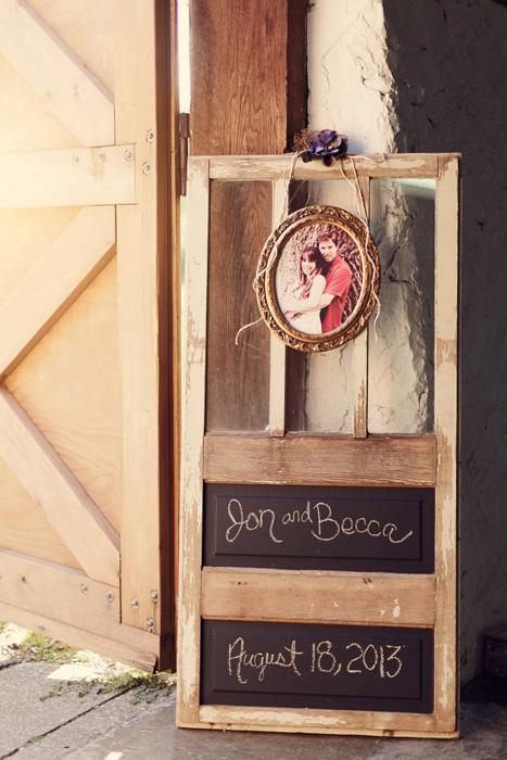 barn wedding reception welcome sign