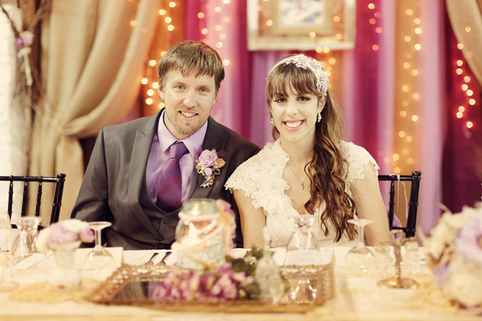 couple at wedding reception