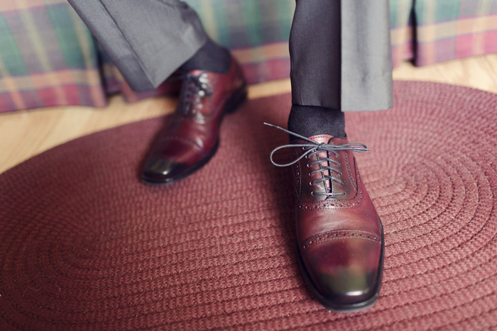 groom's leather oxford