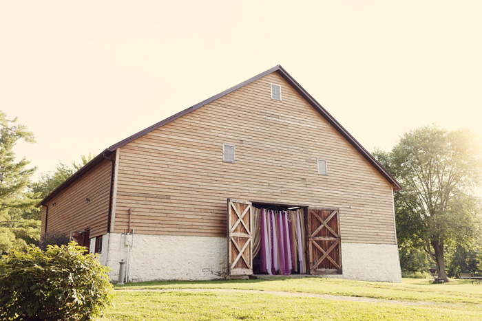barn reception venue exterior