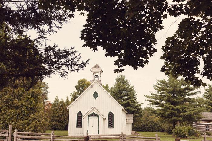 White Country Chapel Wedding Programs