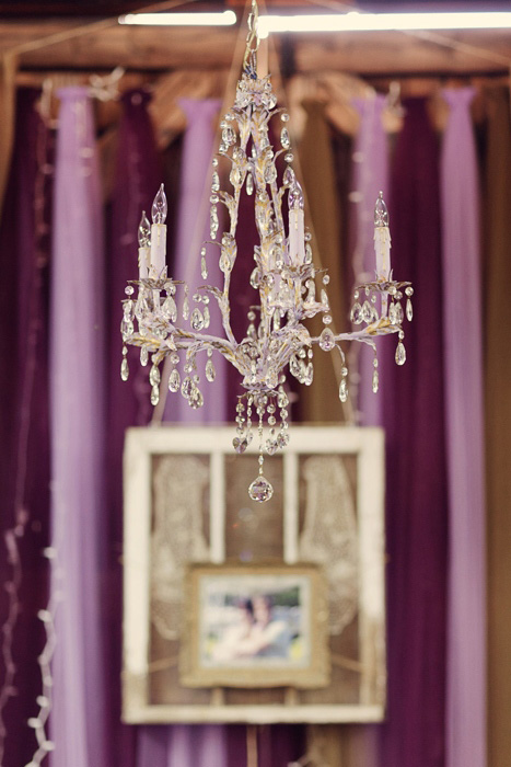 chandelier in barn