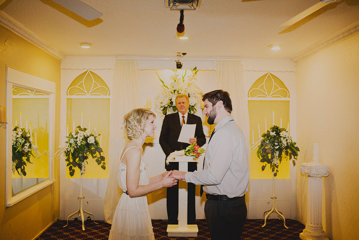Las Vegas wedding chapel elopement