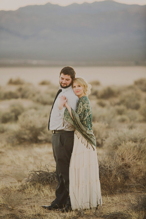 desert couple portrait