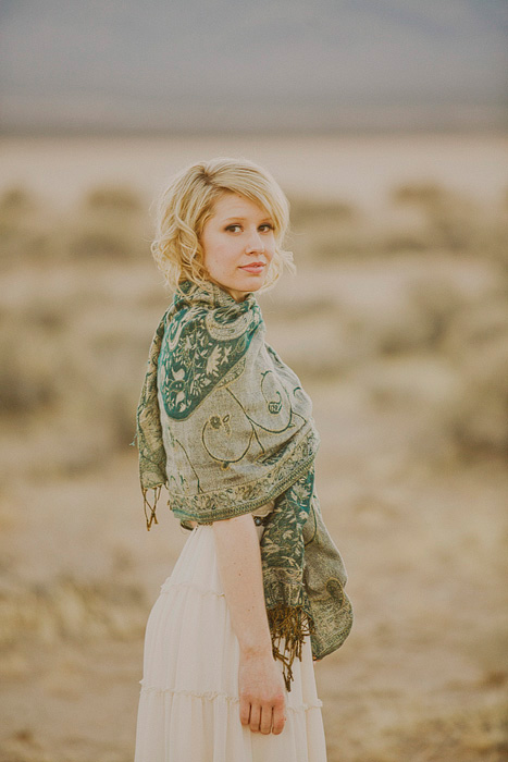 bridal portrait in the desert