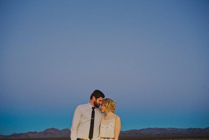 evening desert portrait
