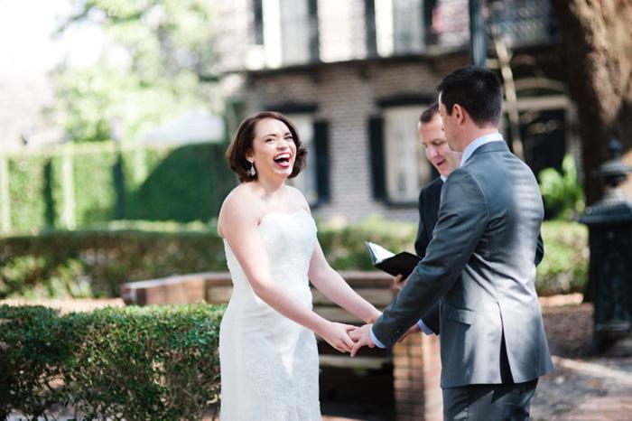 outdoor elopement ceremony