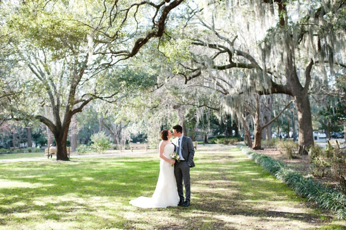 bridal portrait in the park
