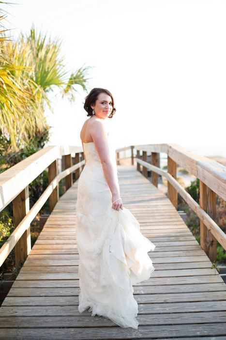 bride on the boardwalk