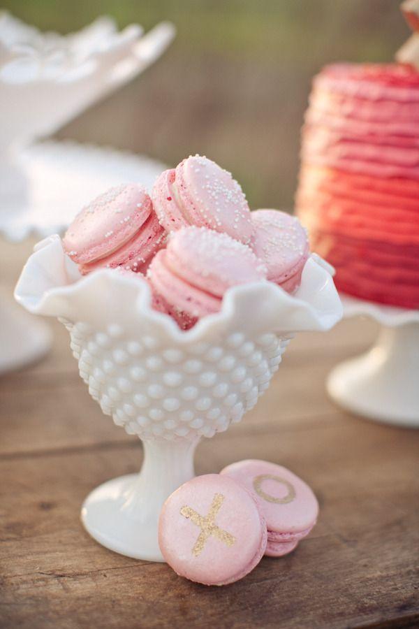 milk glass macarons