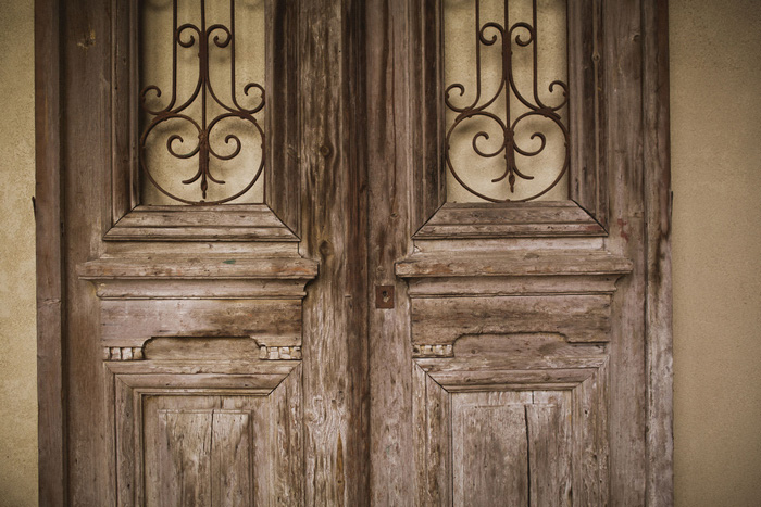 wooden chapel doors