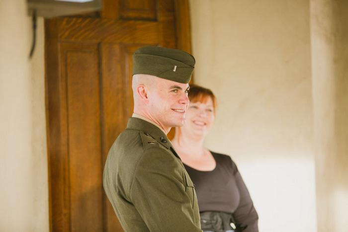 groom waiting in the cahpel