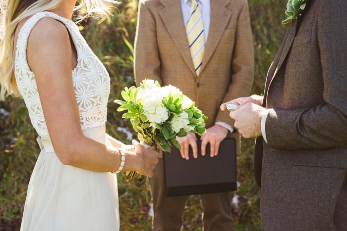 Colorado elopement ceremony