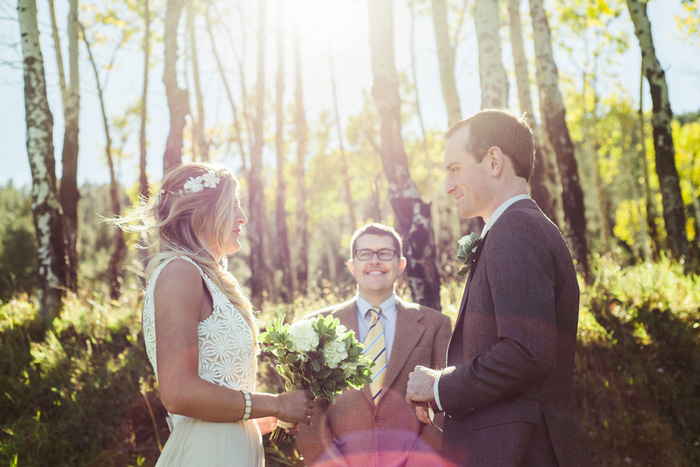woodland elopement ceremony