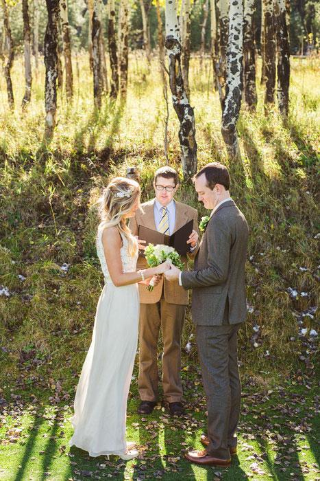 Denver elopement amongst the trees