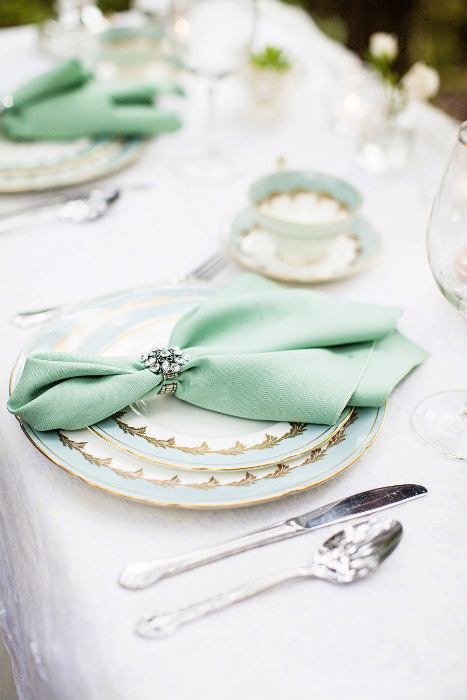 It Might Be Time To Search For Some Etiquette Books And Read Up On The Art Of Napkin Folding Elegant Folds Tucked Into A Jeweled Holder Give