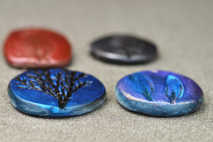 clay stamped pendants