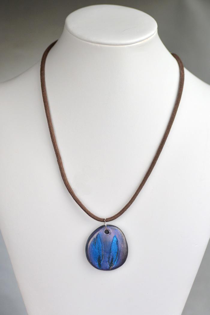 diy stamped pendant