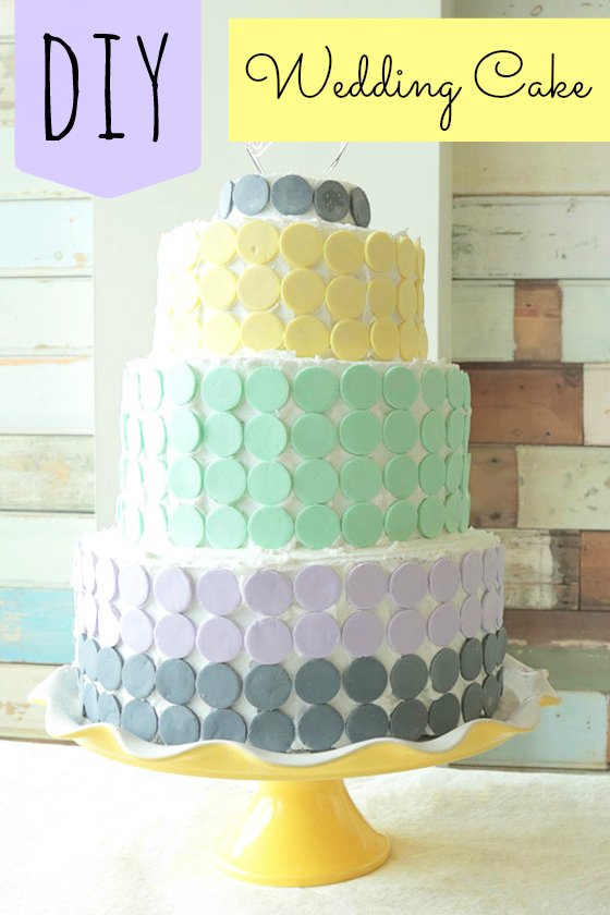 DIY Wedding Cake Candy Wafer Cake